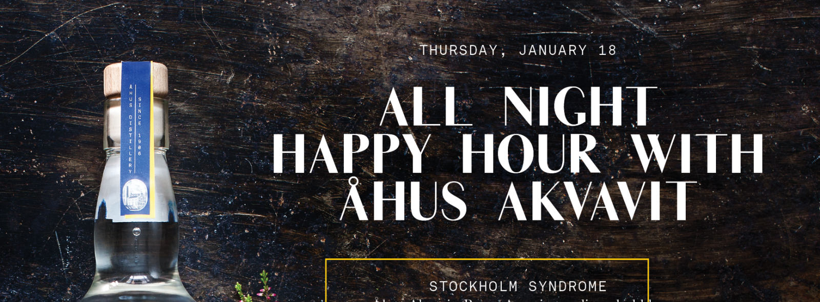 All Night Happy Hour with Åhus Akvavit | Swedes in the States